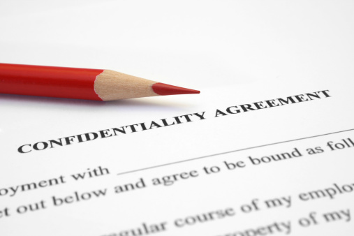 Confidentiality agreement