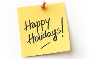Happy Holidays Sticky Note Message